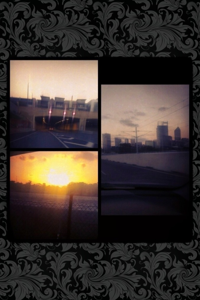 My view driving back into Perth city x